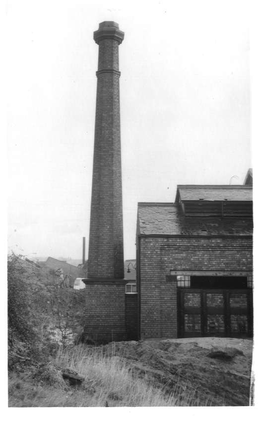 Chimney, rear of Bournville Shed