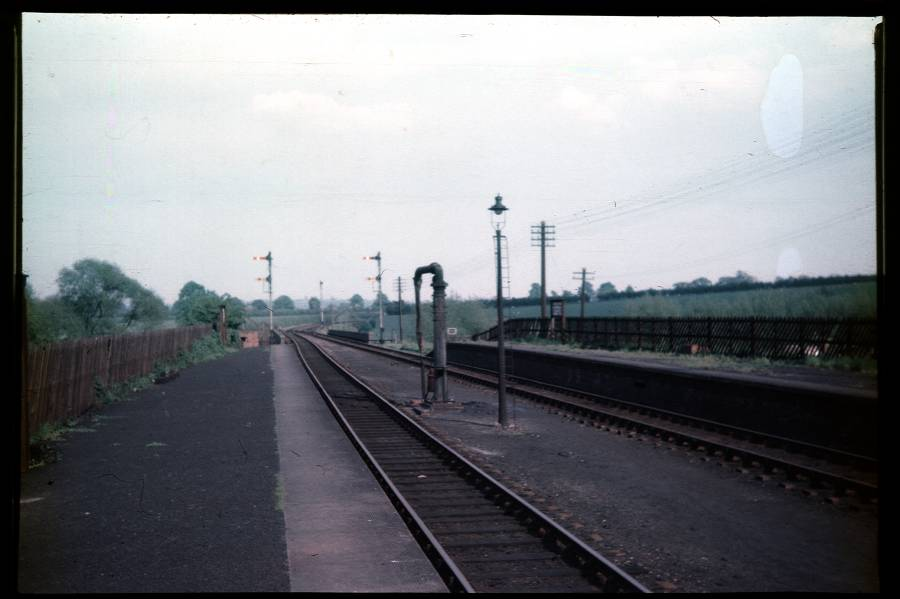 East end of Stratford-on-Avon Station 1956