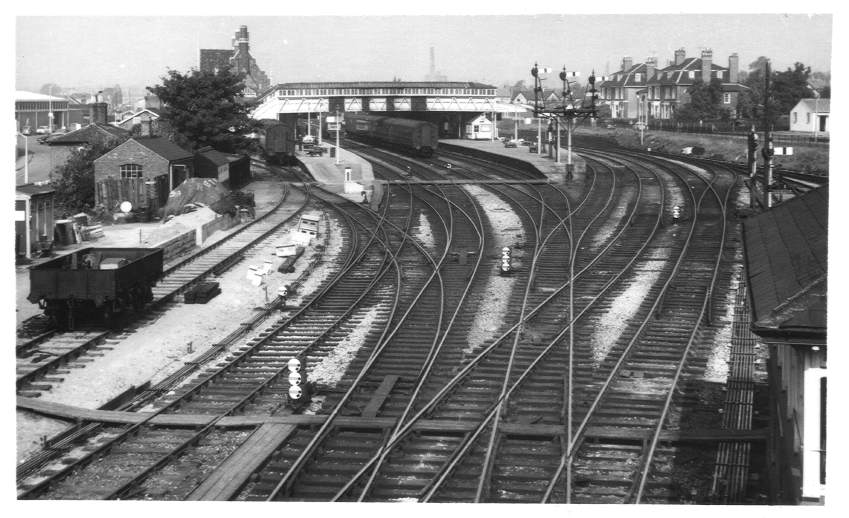 Hereford Station from south 1963