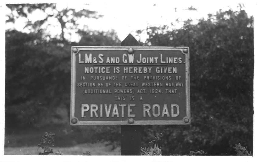 LMS/GW Notice, Rubery Station