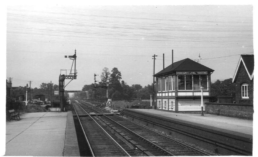 North end of Ashchurch Station 1957