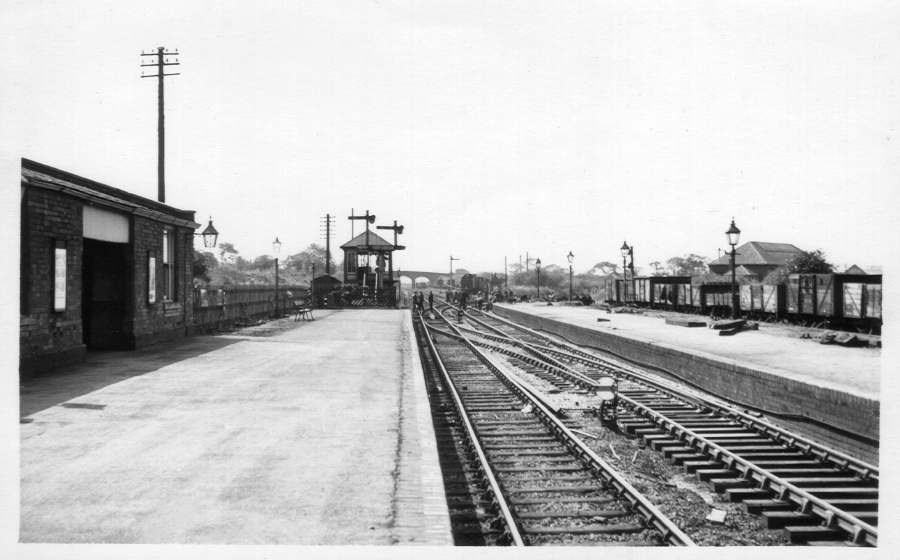 West end of Aldridge Station 1955