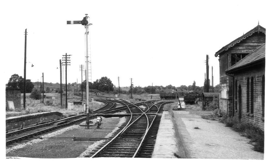 West end of Stratford-on-Avon (SMJ) Station 1962