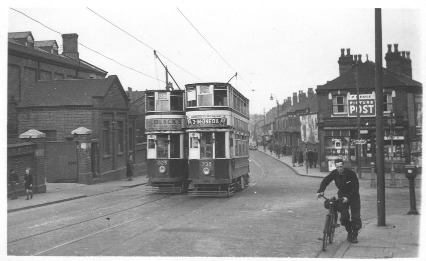 Tram 738 and 825 Nr Fordhouse Lane